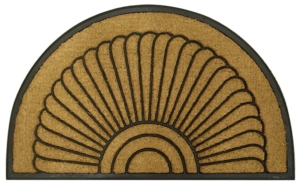 Shell Half Round Recycled Rubber & Coir Door Mats