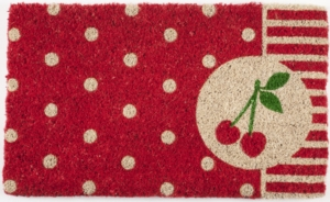 Cherries Handwoven Coconut Fiber Doormat
