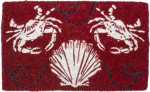 Sand Crabs Handwoven Coconut Fiber Door Mats