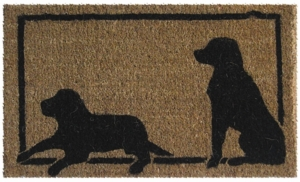 Dog Silhouette Cocoa Door Mats Are Door Mats By American