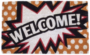 Comic Welcome Non Slip Coir Doormat