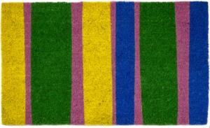 Bands Of Color Non Slip Coir Doormats Are Doormats By