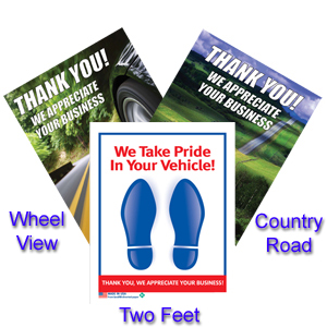 paper floor mats for cars Say thank you to your customers with quality paper floor mats or plastic customer satisfaction floor mats parkplaceprintingnet offers best customer appreciation material.