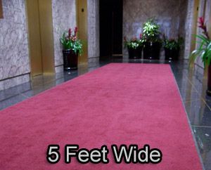 5 Feet Wide Deluxe Carpet Entrance Mats