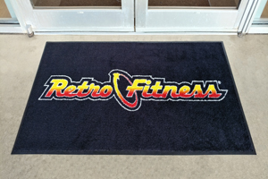 Retro Fitness Carpet Logo Mats