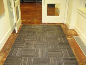 Recycled Rubber Tire Tiles are Entrance Flooring by
