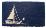 Sailboat Cocoa Door Mats