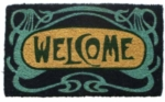 Art Deco Welcome Cocoa Door Mats