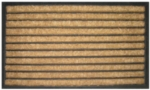 Striped Recycled Rubber & Coir Door Mats