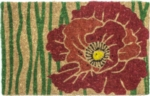 Red Bloom Handwoven Coconut Fiber Door Mats
