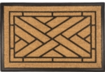 Diagonal Tiles Recycled Rubber & Coir Door Mats