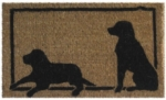 Dog Silhouettes Cocoa Door Mats