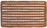 Rectangle Stripes Wire Brush Cocoa Door Mats
