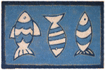 "Three Blue Fish - 18"" x 30"""