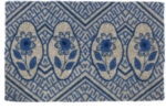 Delft Flowers Handwoven Coconut Fiber Door Mats