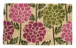 Dahlias Coir Door Mats
