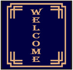 Bordered Welcome Mats