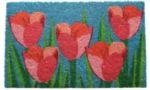 Field of Tulips Non Slip Coir Doormat