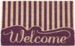 Striped Welcome Non Slip Coir Doormat