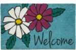 Floral Welcome Non Slip Coir Door Mats