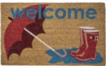 Boots and Umbrella Non Slip Coir Door Mats