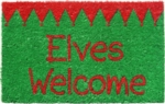 Elves Welcome Non Slip Coir Doormat