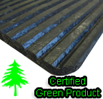 Low Profile Recessed Rubber Ridge Mats