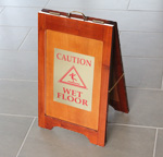 Wood Wet Floor Signs