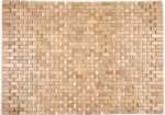 "Roosevelt Exotic Wood Mat - Brown 18"" x 30"""