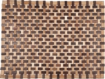 "Douglas Exotic Wood Mat - Natural 18"" x 30"""